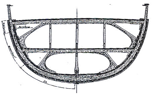 Drawing of the polarship maud - Vollen